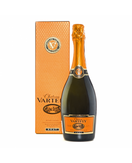 Spumant Chateau Vartely Alb BRUT din Chardonnay Metoda Champenoise+CUTIE CADOU Moldova - ST0.75L