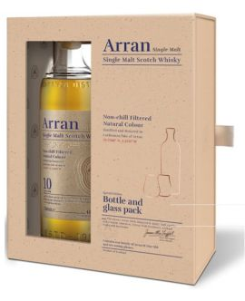 Whisky Arran 10 Years Single Malt + 2 Pahare NEW 46 GRD - ST0.7L