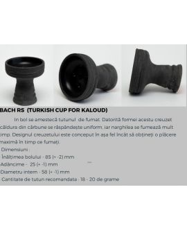 Creuzet BACH din Lut Realizata Manual pt Narghilea RS HD Turkish Cup For Kaloud - Buc
