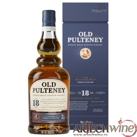 Whisky OLD PULTENEY 18 Years Single Malt + GB 46 GRD - ST0,7L