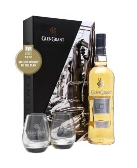 Whisky GLENGRANT 18 Years Rothes Speyside Single Malt + 2 Pahare GB 43 GRD - ST0,7L