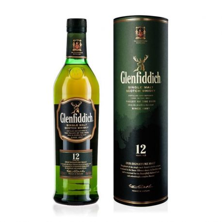 WHISKY GLENFIDDICH 12YRS 40% SINGLE MALT SCOTCH - 1Litru