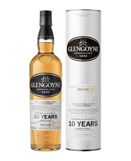 Whisky GlenGoyne 10 Years Unhurried Since Single Malt 40 GRD - ST0,7L